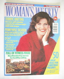 <!--1989-11-21-->Woman's Weekly magazine (21 November 1989)