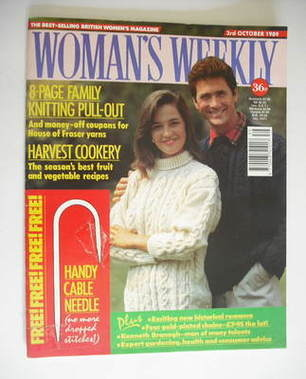 <!--1989-10-03-->Woman's Weekly magazine (3 October 1989)