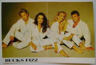 Bucks Fizz autograph