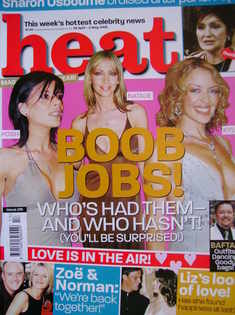 <!--2003-04-26-->Heat magazine - Boob Jobs! cover (26 April-2 May 2003 - Is