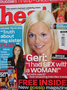 <!--2003-03-22-->Heat magazine - Geri Halliwell cover (22-28 March 2003 - I