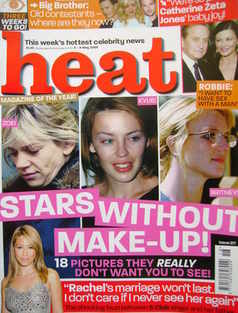 <!--2003-05-03-->Heat magazine - Stars Without Make-Up! cover (3-9 May 2003