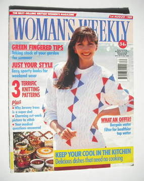 <!--1989-08-01-->Woman's Weekly magazine (1 August 1989 - British Edition)