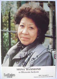 Mona Hammond autograph (ex-EastEnders actor)