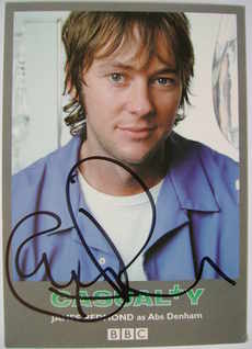 James Redmond autograph (ex-Casualty actor)