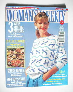 <!--1989-07-18-->Woman's Weekly magazine (18 July 1989 - British Edition)