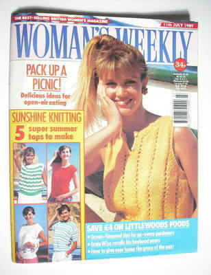 <!--1989-07-11-->Woman's Weekly magazine (11 July 1989 - British Edition)