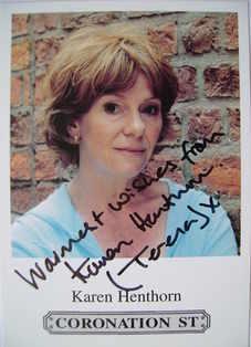 Karen Henthorn autograph