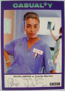 Adjoa Andoh autograph (ex-Casualty actor)