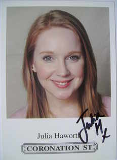 Julia Haworth autograph