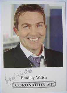 Bradley Walsh autograph (hand-signed cast card)