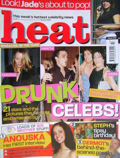 <!--2003-06-07-->Heat magazine - Drunk Celebs! cover (7-13 June 2003 - Issu