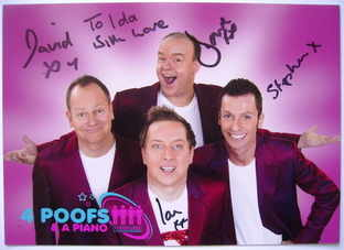 4 Poofs & A Piano autographs (hand-signed photo)