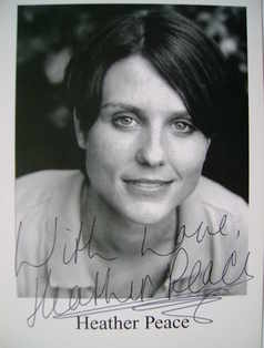 Heather Peace autograph (hand-signed photograph)