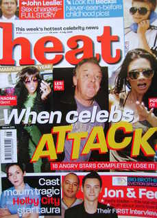 <!--2003-06-28-->Heat magazine - When Celebs Attack cover (28 June - 4 July