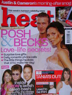 <!--2003-07-05-->Heat magazine - David and Victoria Beckham cover (5-11 Jul