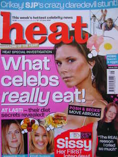 <!--2003-06-21-->Heat magazine - What Celebs Really Eat cover (21-27 June 2