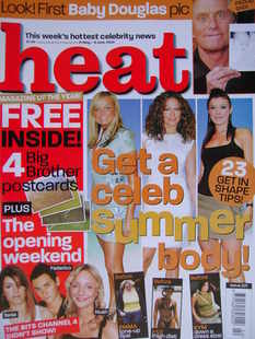 <!--2003-05-31-->Heat magazine - Get a Celeb Summer Body cover (31 May-6 Ju