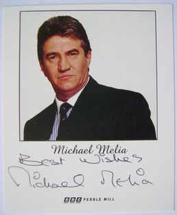 Michael Melia autograph