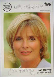 Jan Harvey autograph