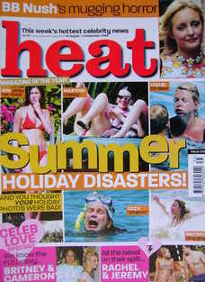 Heat magazine - Summer Holiday Disasters! cover (30 August-5 September 2003 - Issue 234)