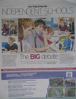The Daily Telegraph Independent Schools newspaper supplement - 12 March 201