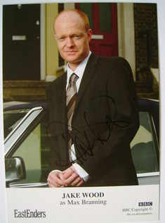 Jake Wood autographed photo (EastEnders actor)