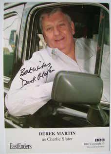 Derek Martin autograph (ex-EastEnders actor)