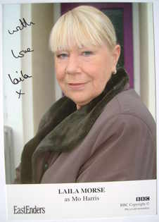 Laila Morse autograph (EastEnders actor)