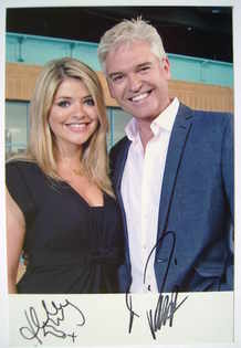 Holly Willoughby and Phillip Schofield autograph (hand-signed photograph)