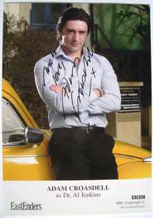 Adam Croasdell autographed photo (ex EastEnders actor)
