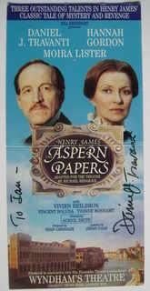 Daniel J. Travanti autograph (hand-signed theatre flyer, dedicated)