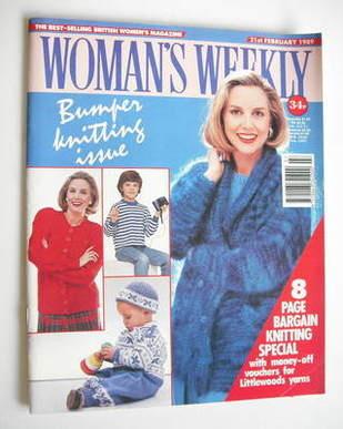 <!--1989-02-21-->Woman's Weekly magazine (21 February 1989 - British Editio