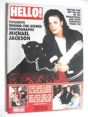 <!--1991-11-16-->Hello! magazine - Michael Jackson cover (16 November 1991