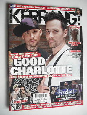 <!--2010-10-23-->Kerrang magazine - Benji and Joel Madden cover (23 October