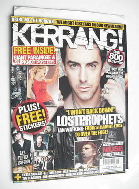 <!--2010-02-06-->Kerrang Magazine - Ian Watkins cover (6 February 2010 - Is