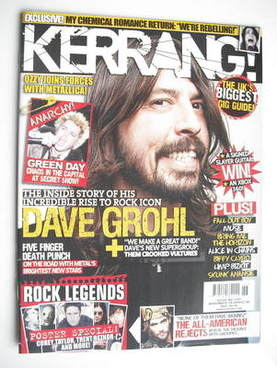 <!--2009-11-14-->Kerrang magazine - Dave Grohl cover (14 November 2009 - Is
