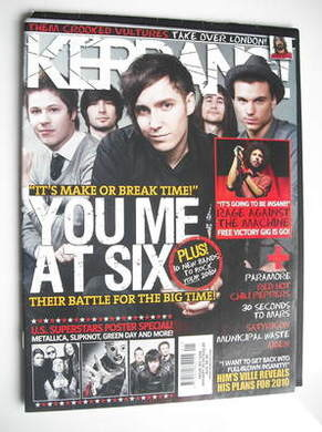 <!--2010-01-09-->Kerrang magazine - You Me At Six cover (9 January 2010 - I