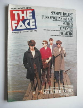 The Face magazine - Echo And The Bunnymen cover (August 1981 - Issue 16)