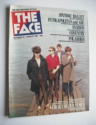 <!--1981-08-->The Face magazine - Echo And The Bunnymen cover (August 1981