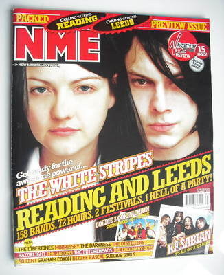 <!--2004-08-28-->NME magazine - The White Stripes cover (28 August 2004)