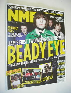 <!--2011-04-02-->NME magazine - Beady Eye cover (2 April 2011)