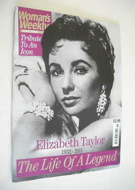 <!--2011-04-->Woman's Weekly magazine - Elizabeth Taylor Tribute To An Icon