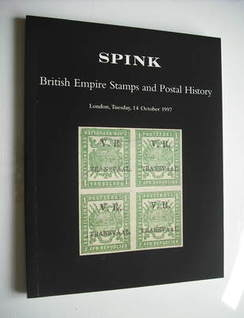 Spink auction catalogue - British Empire Stamps and Postal History (October