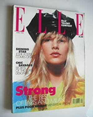 <!--1990-04-->British Elle magazine - April 1990 - Emma Balfour cover