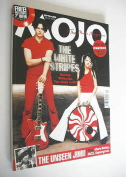 <!--2002-09-->MOJO magazine - The White Stripes cover (September 2002 - Iss