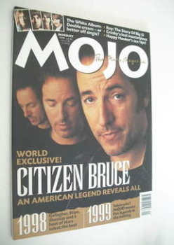 MOJO magazine - Bruce Springsteen cover (January 1999 - Issue 62)