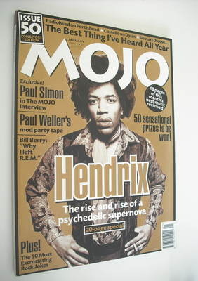 <!--1998-01-->MOJO magazine - Jimi Hendrix cover (January 1998 - Issue 50)