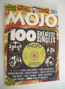 MOJO magazine - The 100 Greatest Singles Of All Time cover (August 1997 - Issue 45)