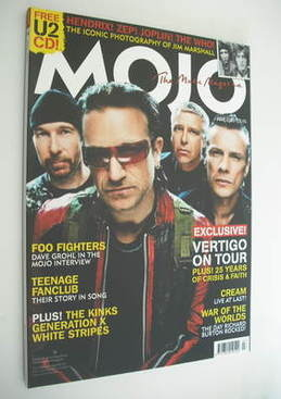 <!--2005-07-->MOJO magazine - U2 cover (July 2005 - Issue 140)